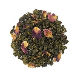 Tahitian Vanilla Rose Oolong Tea - dry leaf