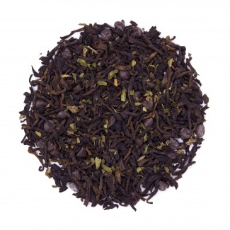 Chocolate Mint Fusion Pu'erh Tea Dry Leaf