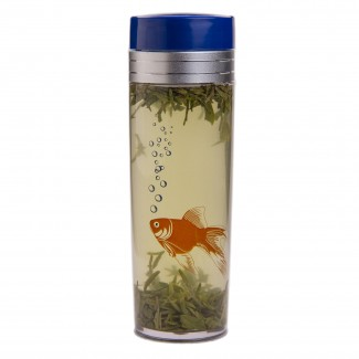 16oz. Orange Fish Tea Traveler, BPA Free, with Tea