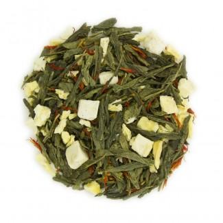 South Pacific Tropical Organic Green Tea Dry Leaf