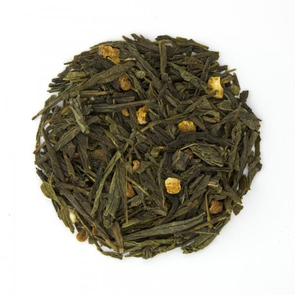 Raspberry Orange Sencha Green Tea