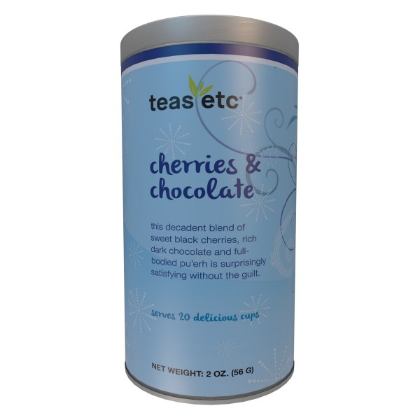 Cherries & Chocolate Pu'erh Tea 2oz Holiday Tin