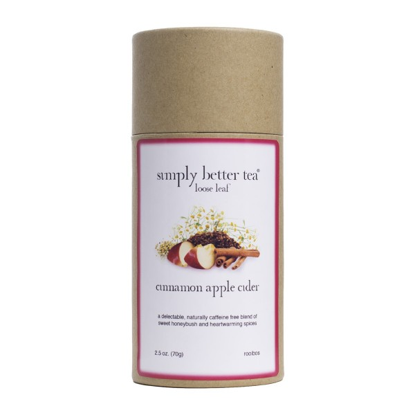 Hot Cider Honeybush, Packaged in Simply Better Tea Canister as Cinnamon Apple Cider