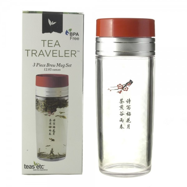 13oz Tea Traveler - Chinese Character, BPA Free, with Retail Box