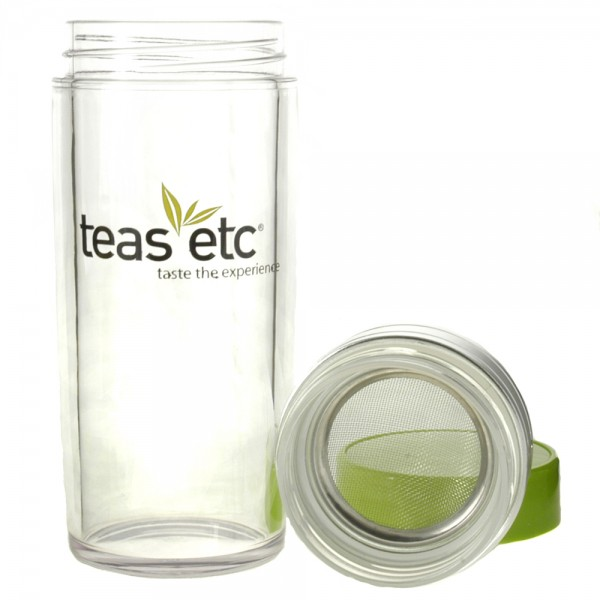13oz. Teas Logo Tea Traveler, 3 Pieces, Body, Screen, Lid
