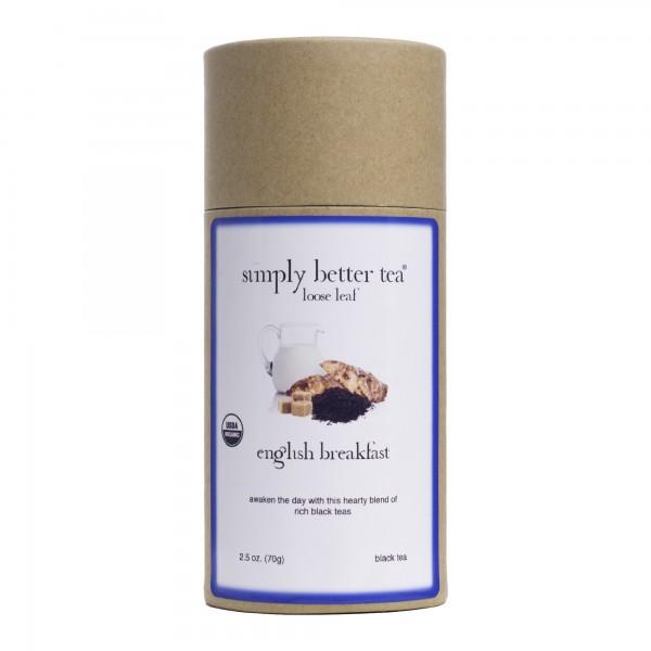 English Breakfast Organic Black Tea Canister, Loose Leaf
