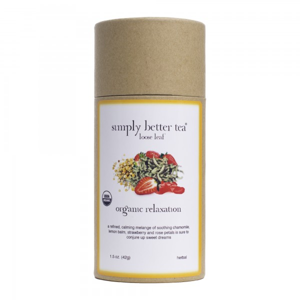 Organic Relaxation Herbal Blend, Simply Better Tea Canister