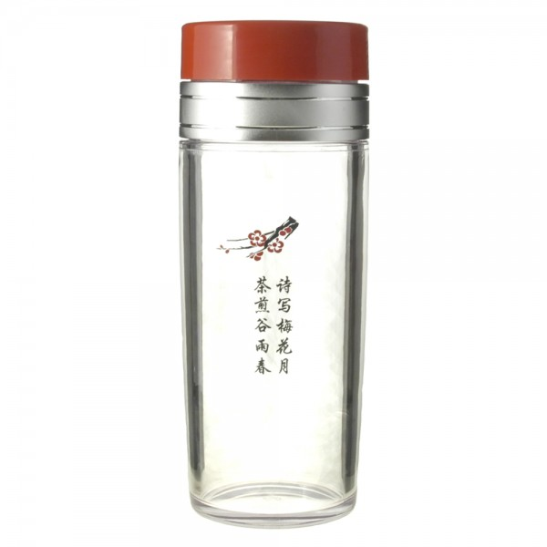 13oz. Chinese Character Tea Traveler, BPA Free, Assembled