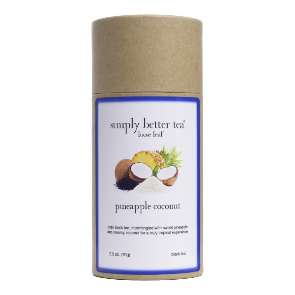 Pineapple Coconut Loose Leaf Canister