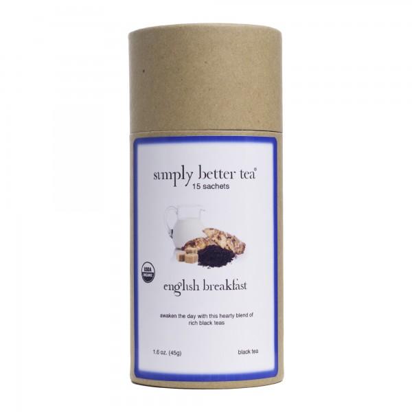 English Breakfast Organic Black Tea Canister, Sachets