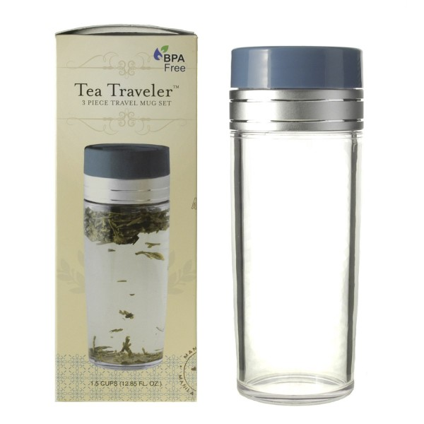 16oz. Unbranded Tea Traveler, BPA Free, with Retail Box