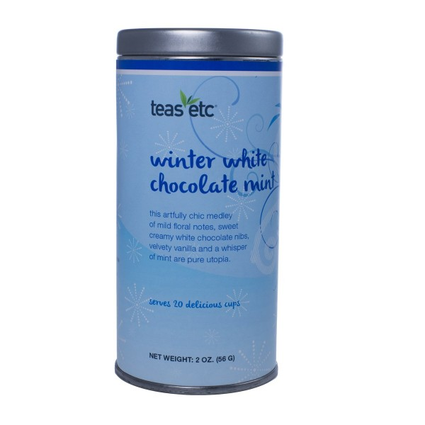 Winter White Chocolate Mint Oolong Tea 2oz Holiday Tin